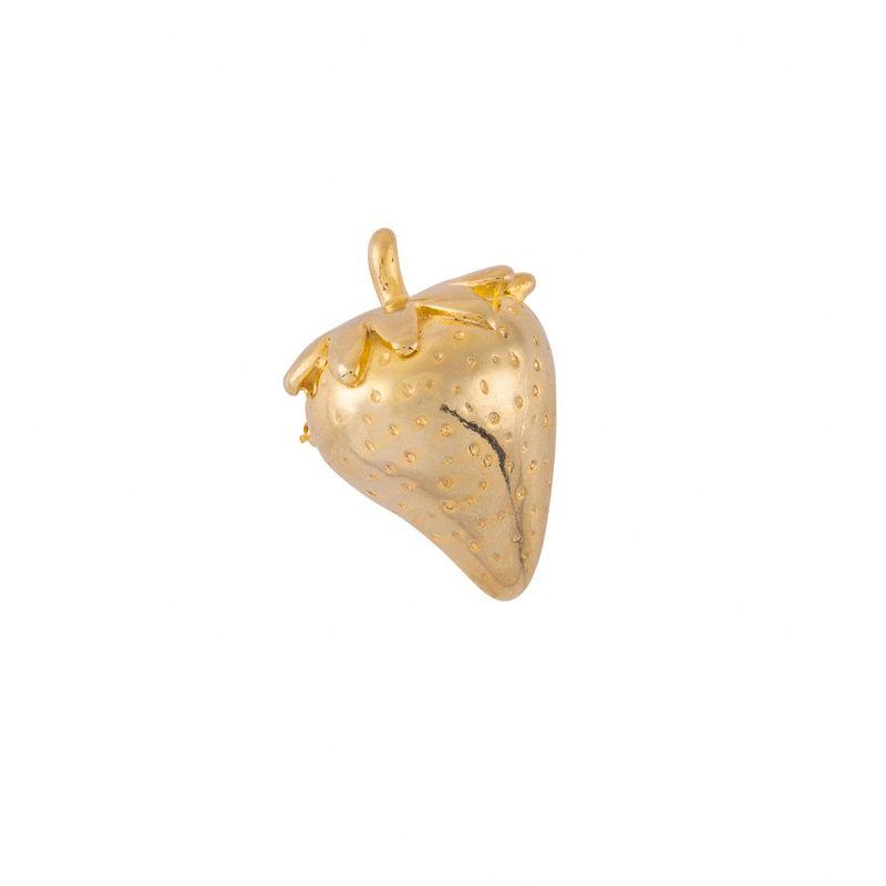 Broche-morango-dourado