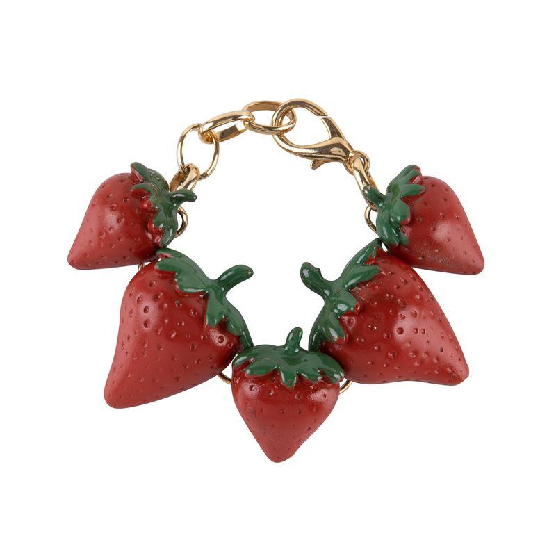 Pulseira-Morangos-Vermelha